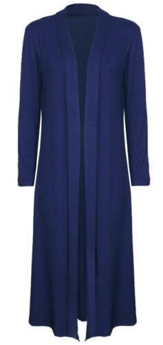 Womens Ladies Long Sleeve *MAXI* Boyfriend Cardigan Open Cardigans Floaty 8-16