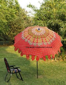 Indian-Cotton-Garden-Parasol-Cafe-Deck-Restaurant-Outdoor-Beach-Patio-Umbrella