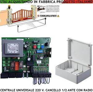 Schema Elettrico Cancello A Due Ante.Cancello Elettrico Centrale Compatibile Aprimatic Radio 1 2 Motori