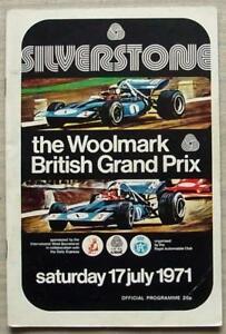 BRITISH-GRAND-PRIX-1971-FORMULA-ONE-F1-SILVERSTONE-Official-Race-Programme