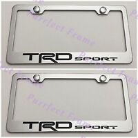 2x Trd Sport Tundra Stainless Steel License Plate Frame Rust Free W/caps