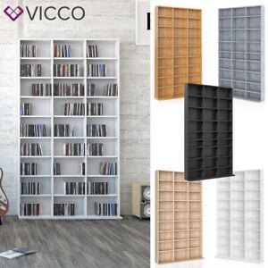 Details zu VICCO CD DVD Bluray Regal Medienregal Standregal Regalwand  Bücherregal AUSWAHL