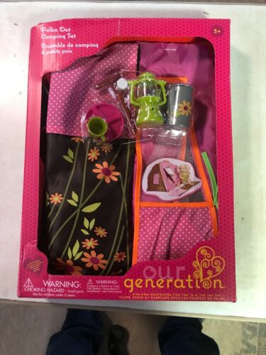 Our Generation 18 Inch Doll Accessory Camping Set HEAVILY DAMAGED BOX