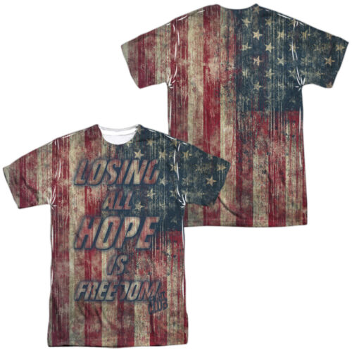 Fight Club Movie LOSING ALL HOPE IS FREEDOM 2-Sided All Over Print Poly T-Shirt