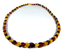 Antike Bernstein Kette Collier Art Déco Real Baltic Amber Necklace 32,57 g