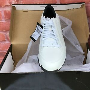 NWB-Vtg-Adidas-AdiComfort-Men-039-s-Sz-8-5-Extra-Wide-White-Leather-Golf-Shoes