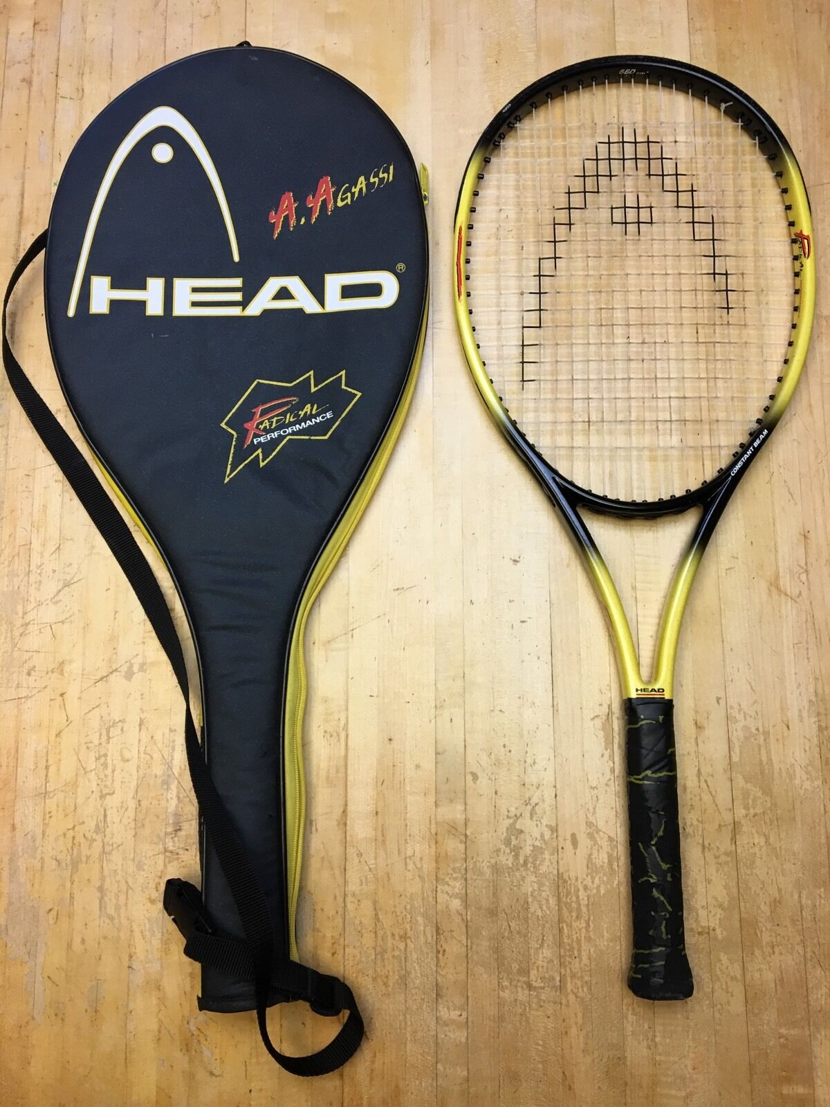 Head Andre Agassi Radical Jr. Bumble Bee Tennis Racquet (WITH Case)