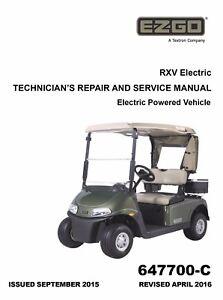 ez go e z go 2016 2017 rxv electric golf car freedom shuttle service rh ebay co uk vantage electric vehicle service manual reva electric car service manual