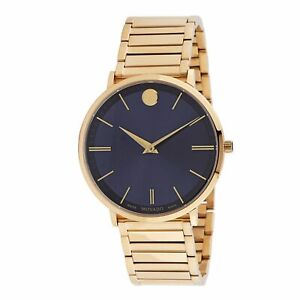 Movado 0607510 Men's Ultra Slim Blue Quartz Watch