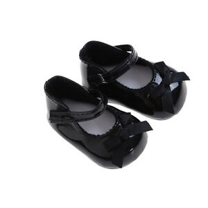 Fashion-Black-Shoes-Boots-For-18inch-Doll-Party-Gifts-Baby-Toys-ji