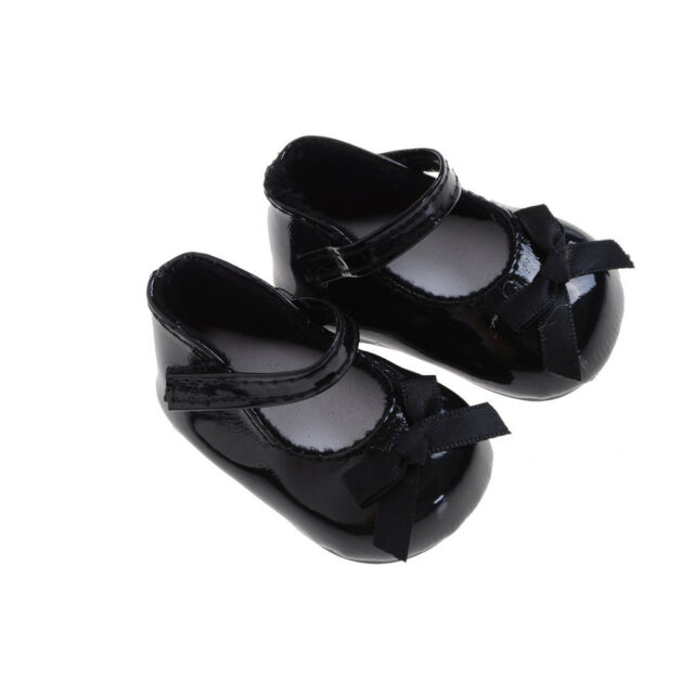 Fashion Black Shoes Boots For 18inch Girl Doll Party Gifts Baby Toys ESVe