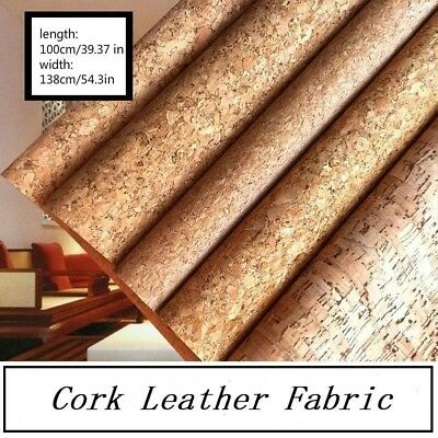 Cork Leather Fabric Bags Furniture Crafts Cloth Metallic Shine Inclusions Decor