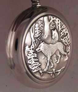 Vintage Serviced Molnia Wolves 1980 CCCP Hi Grade Pocket Watch With Wolfs A+