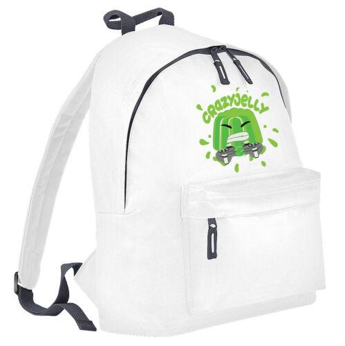 Crazy Jelly Youtuber Kids School Bag Boys Girls Bagpack Shoulder Gamer