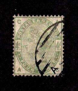 Great Britain stamp #103, used, Queen Victoria, slight corner damage, SCV $210