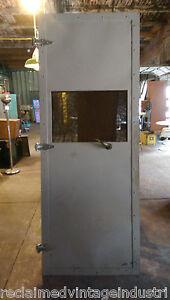 Image is loading Reclaimed-Vintage-Industrial-Faraday-Cage-Door-From-RCA- & Reclaimed Vintage Industrial Faraday Cage Door. From RCA Plant ...