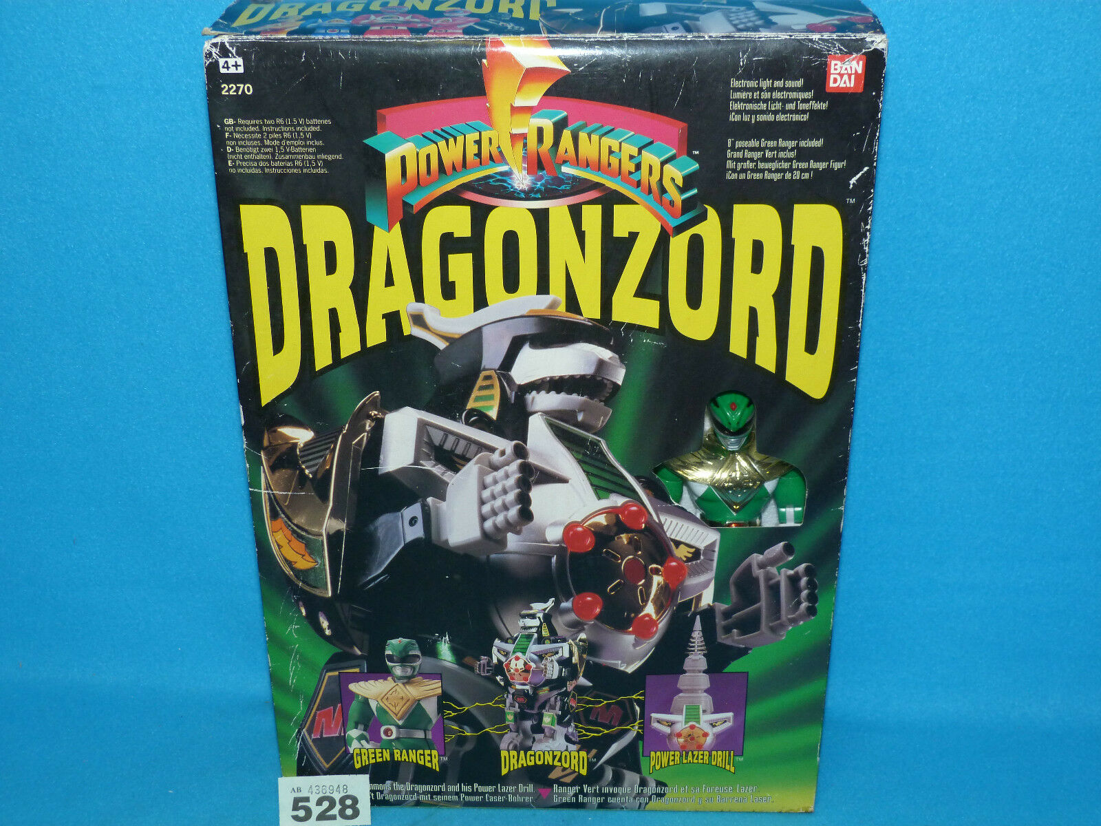POWER Rangers mmpr Mighty Morphin Dragonzord Megazord in scatola 100% 528