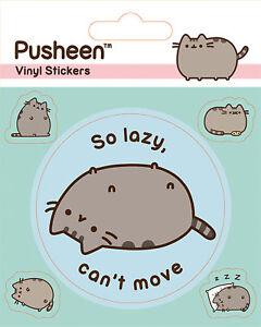 Lazy Stickerset Aufkleber 10x12,5 Cm Mit 5 Sticker Lange Lebensdauer Pusheen