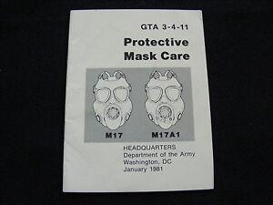 Technical Manual GTA 3-4-11 M1 M1A Protective Mask Manual   eBay