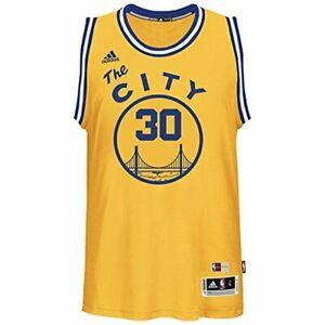 68f261913 Adidas NBA Golden State Warriors Stephen Curry  30 Gold Hardwood ...