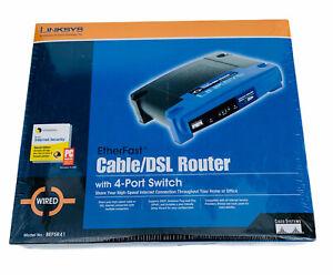 Linksys EtherFast Cable/DSL Router 4-Port 10/100, Wired Ethernet, Model: BEFSR41