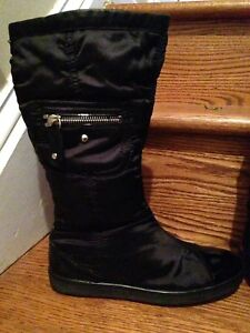 Details Black Girl's Accent Patent Tod's Junior Zu Pull Boots Size On 34eu3 Us OXZiPukT