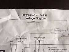 TREADMILL VOLTAGE DIAGRAM. 29950 Proform 395 Pi