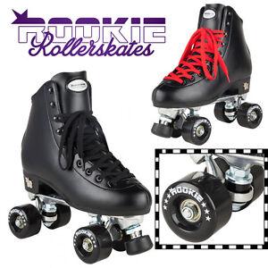 Image is loading Rookie-Classic-Black-Quad-Roller-Skates-Kids-Womens- 0d5f2e0124