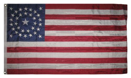3x5 Embroidered USA Historic 34 Star Circle 300D  Nylon Flag 2 Clips
