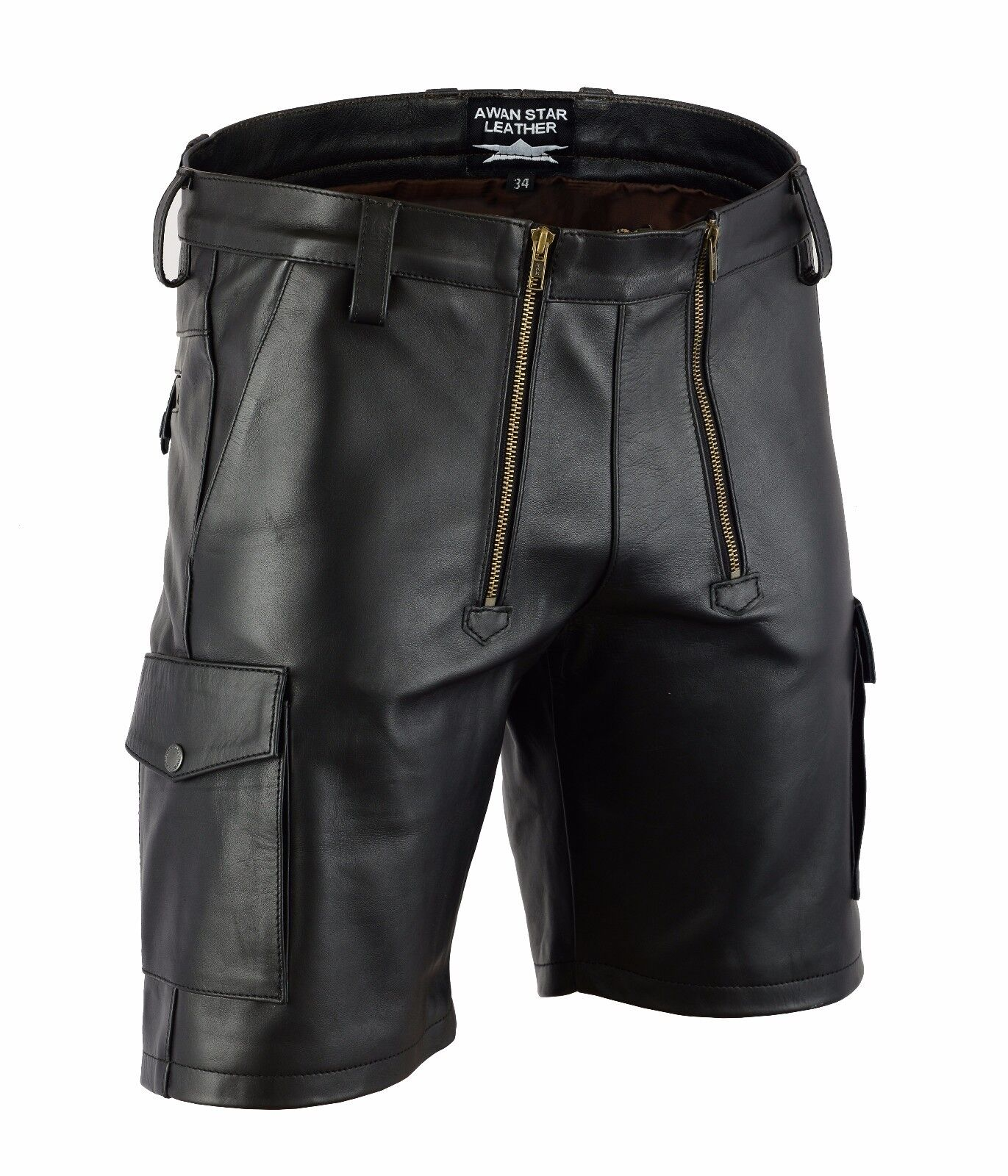 AW-7520 awanstar Zimmermann leder Shorts Soft Leder,ledershorts Carpenter Pants