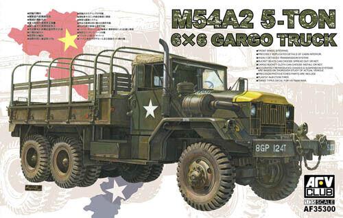 AFV CLUB 35300 M54A2 M54A2 M54A2 5ton 6x6 Cargo Truck 1 35 Plastic Model Kit 81a