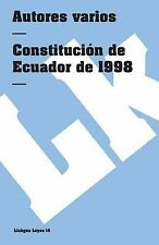 Constitucion de Ecuador de 1998 by Author Autores varios (2014, Paperback)