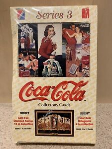 LOT of 2 1994 Collect-A-Card Coca-Cola Series 2 Trading Card Box Santa Christmas