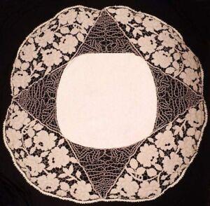 Antique-Handmade-Madeira-Cutwork-Linen-Tablecloth