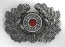 German Wreath Cockade Aluminium Metal Army Heer Visor Cap Hat Badge WW2 WWII Old