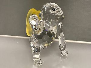 Swarovski-Figurine-Gorille-avec-Bananes-6-5-Cm-Excellent-Etat