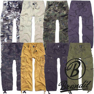 4bbbbf2b3c19 Image is loading Brandit-Mens-Cargo-Trousers-1003-Pure-Vintage-Trouser-