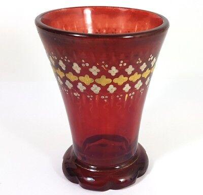 Altri Complementi D'arredo Originale Vetro Vetro Rosso Rubino Bicchiere Intorno Al 1850 Al160 Ture 100% Guarantee