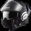 LS2-FF399-Valiant-Noir-Brillant-Modulable-avant-Basculable-Casque-Moto-Integral miniature 2