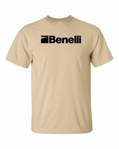 Benelli Script Black Logo T Shirt 2nd Amendment Pro Gun Rights Rifle Pistol New