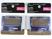 2x Maybelline Ultra-brow Powder 20 Dark Brown Eyebrow Color Makeup 404