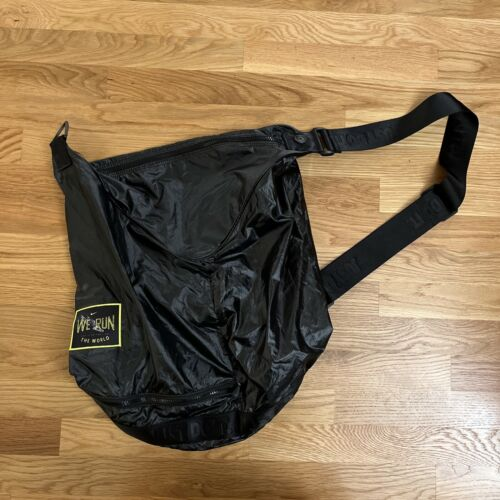 Nike We Run Logo Patch Duffel Bag Travel Gym Sack