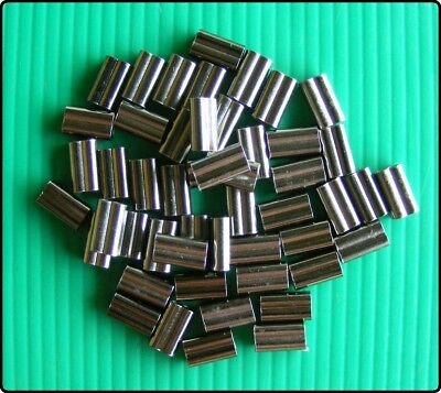 50 x 8mm-2mm Brass Crimps.Ideal for Wire or Mono Line.Special 3 for 2 Offer.