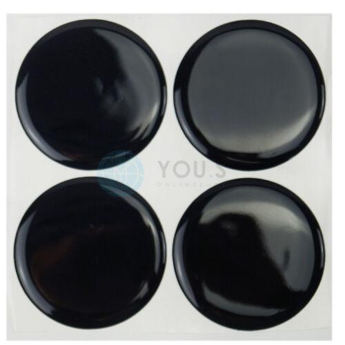 4 x tapa del cubo tapacubos tapas llantas tapas pegatinas 60,0 mm negro nuevo