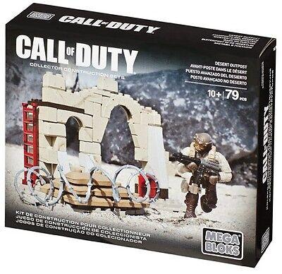 MEGA BLOKS COD 79 pcs SET 06846 Call of Duty Desert Outpost Collectors Serires