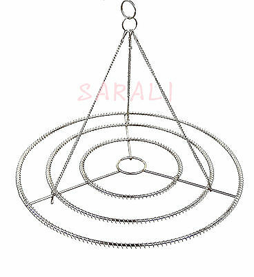 "2PCS 13"" W STAINLESS STEEL CHANDELIER FRAME DIY WEDDING PARTY CENTERPIECE DECOR"