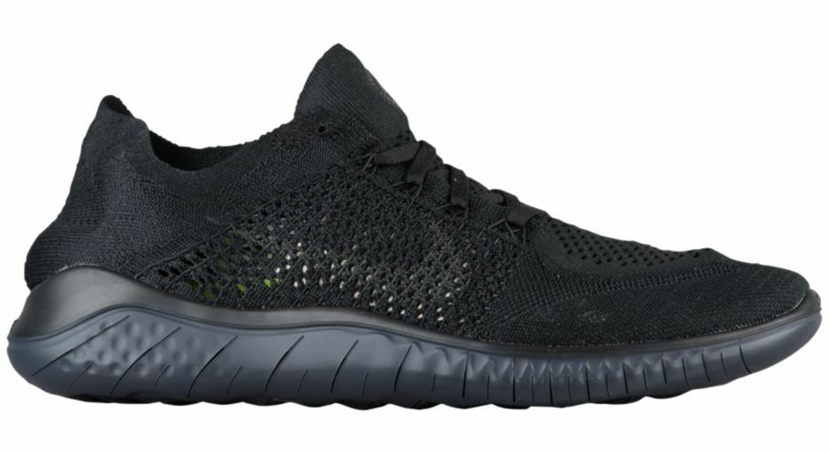 NIKE FREE RN FLYKNIT MEN'S 2018 BLACK/ANTHRACITE RUNNING SHOE MEN'S FLYKNIT SELECT YOUR SIZE ece943