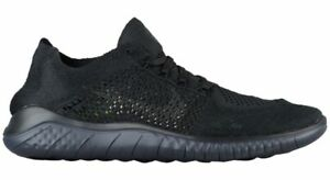 half off d7715 95b17 Image is loading NIKE-FREE-RN-FLYKNIT-2018-BLACK-ANTHRACITE-RUNNING-