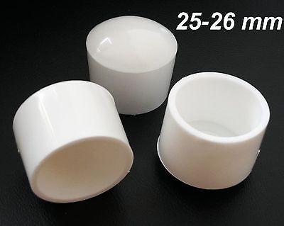24 x protection pour pieds Ø 25-26 mm Noir Bouchon Rohr Chaise de jardin