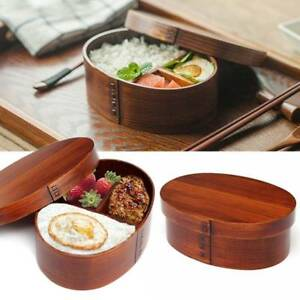 Image Is Loading Japanese Style Wooden Bento Boxes Wood Lunch Box